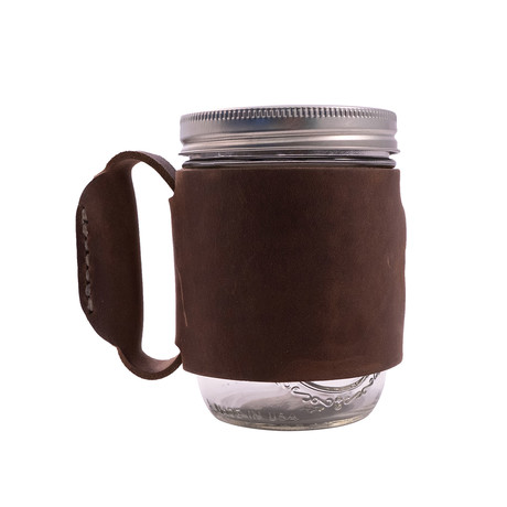 Leather Miner Mug (Dark Brown)