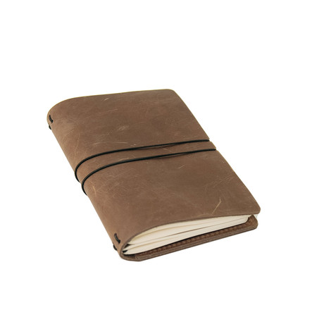 Bullet Leather Journal (Dark Brown)