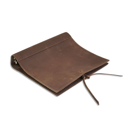 "Soft Leather Binder // 1.5"" Ring (Dark Brown)"