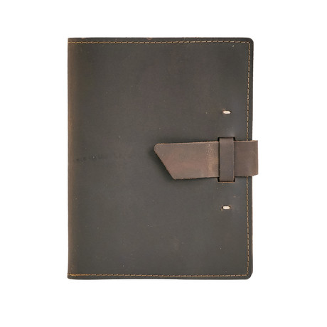 Switchback Leather Notebook (Dark Brown)