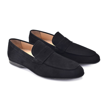 Soft Suede Casual Loafer // Black (US: 7)