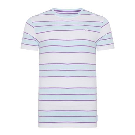 Boxer Stripe Jacquard T-Shirt // Lilac (S)