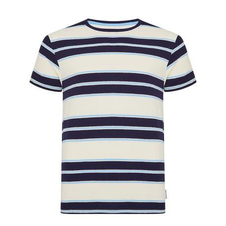 Boxer Stripe Jacquard T-Shirt // Navy (S)