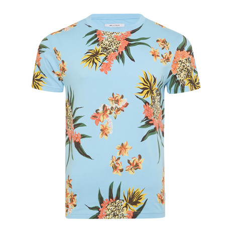 Troy Floral T-Shirt // Pale Blue (S)