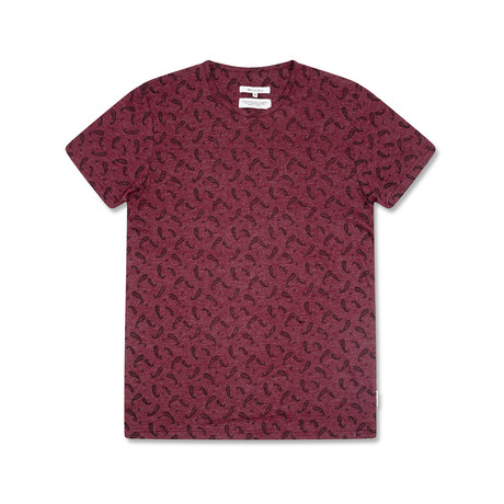 Paisley T-Shirt // Oxblood (S)