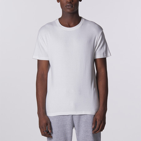 Pointelle T-Shirt // White (S)