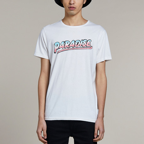 Printed Crew Neck T-Shirt // White (S)