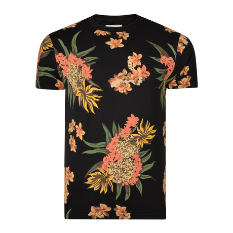 Troy Floral T-Shirt // Black (S)