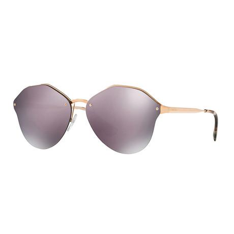 Women's Geometric 54TS Catwalk Sunglasses // Pink + Gold