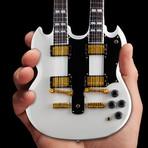 RUSH // Alex Lifeson & Geddy Lee Miniature Guitar Models // Set of 2