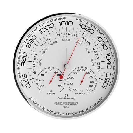 "Chrome Simplex 12"" Aneroid Barometer // W300S105W"