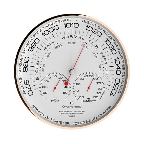 "Rose Simplex 12"" Aneroid Barometer // W300R105W"
