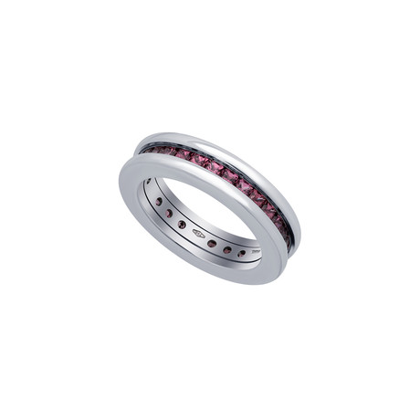 Bulgari 18k White Gold Garnet B.Zero 1 Ring // Ring Size: 5.25 // Pre-Owned