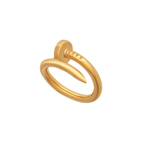 Cartier 18k Yellow Gold Juste un Clou Ring // Ring Size: 4.25 // Pre-Owned