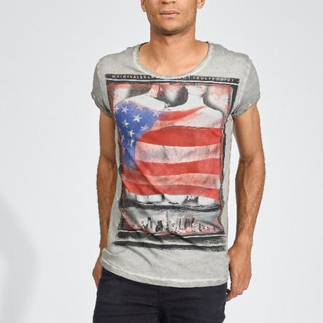 Fist Flag T-Shirt // Dark Gray (S)