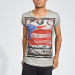 Fist Flag T-Shirt // Dark Gray (S)