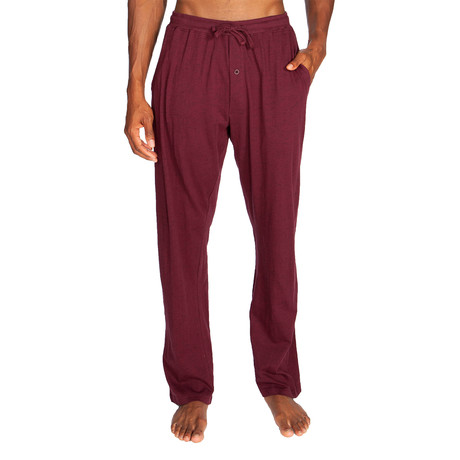 Lightweight Relaxed Fit Lounge Pant // Maroon (S)