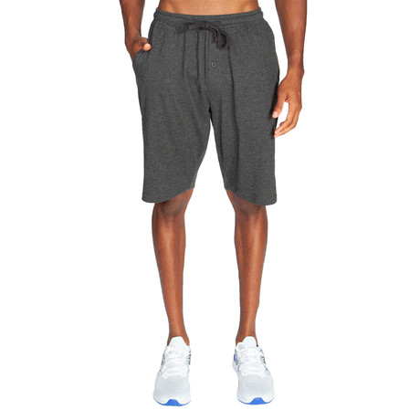 Lightweight Relaxed Fit Lounge Short // Dark Gray (S)