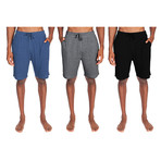 3 Pack Super Soft Lounge Short // Light Blue Heather + Gray + Black (S)