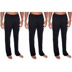 3 Pack Super Soft Lounge Pants // Black (S)