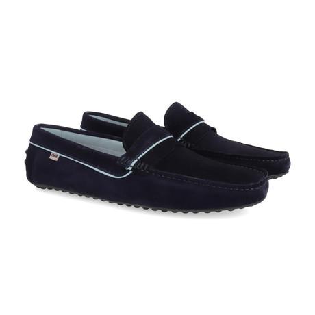 Sefanti Leather Moccasins // Navy (Euro: 39)