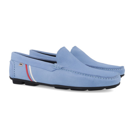 Selines Leather Moccasins // Blue (Euro: 39)