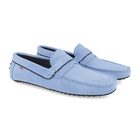 Sefanti Leather Moccasins // Blue (Euro: 39)