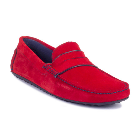 Sitman Suede Moccasin // Red (Euro: 39)