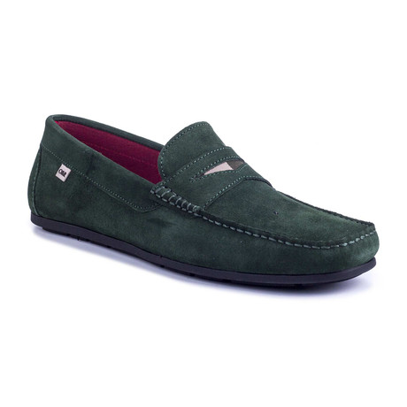Sonic Suede Moccasin // Green (Euro: 39)