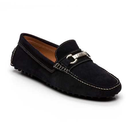Solac Suede Moccasin // Blue (Euro: 39)