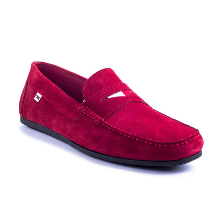 Sonic Suede Moccasin // Red (Euro: 39)