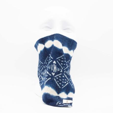 Tie Dye Block Print Maskdanna // Indigo (S)