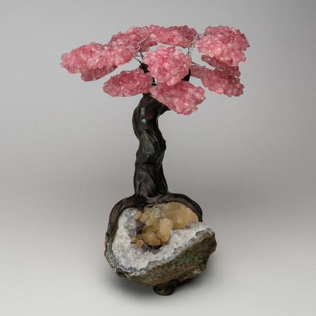 The Wisdom Tree // Genuine Rose Quartz + Amethyst & Calcite Matrix // Custom