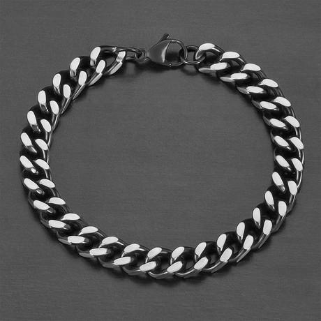 Curb Chain Bracelet // Black // Set of 2