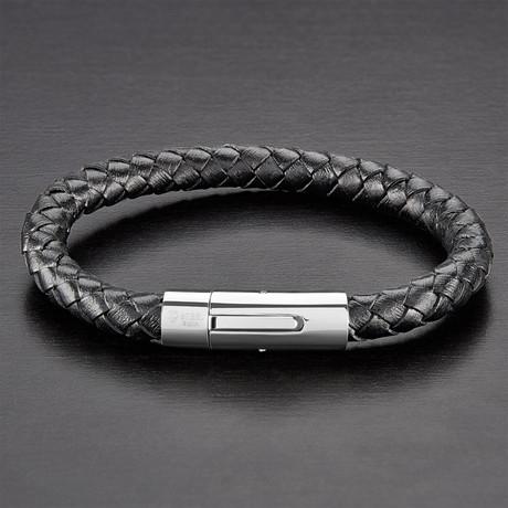 Braided Bracelet // Black // Set of 2