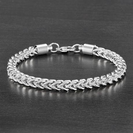 Franco Chain Bracelet // Silver // Set of 2