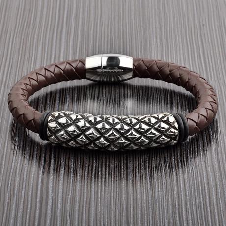Studded Bracelet // Brown // Set of 2
