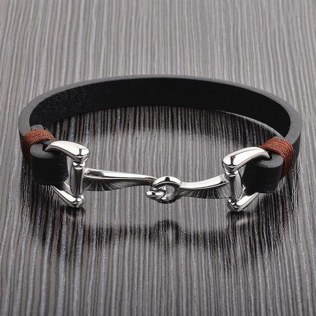 Hook Clasp Bracelet // Black // Set of 2