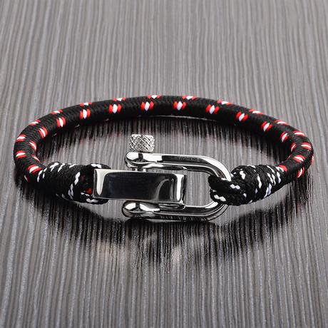 Screw Clasp Bracelet // Black // Set of 2