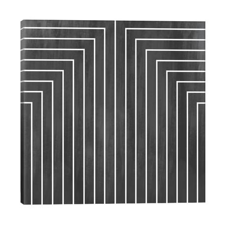 "Mid Century Modern Art- Geometric Pattern 90 // 5by5collective (18""W x 18""H x 1.5""D)"