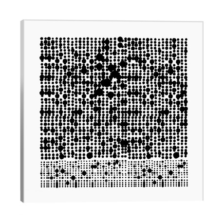 """Black+White Dot Gallery Wall I // The Maisey Design Shop (18""""W x 18""""H x 1.5""""D)"""