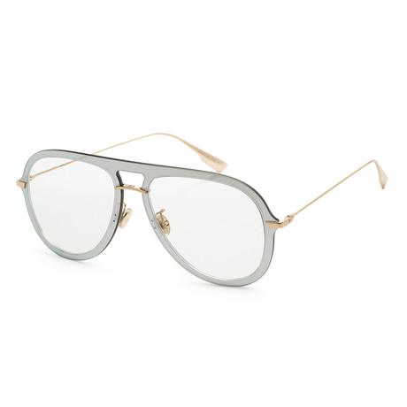 Women's Ultimate 1S-0VGV-5770 Sunglasses // Silver + Green
