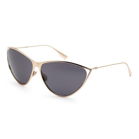Women's New Motard Sunglasses // Gold + Gray