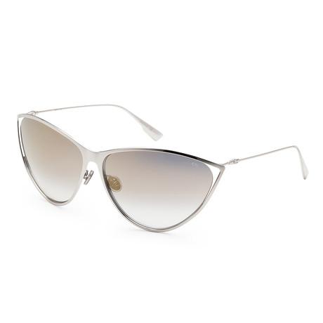 Women's New Motard Sunglasses // Palladium + Gray Gold Gradient