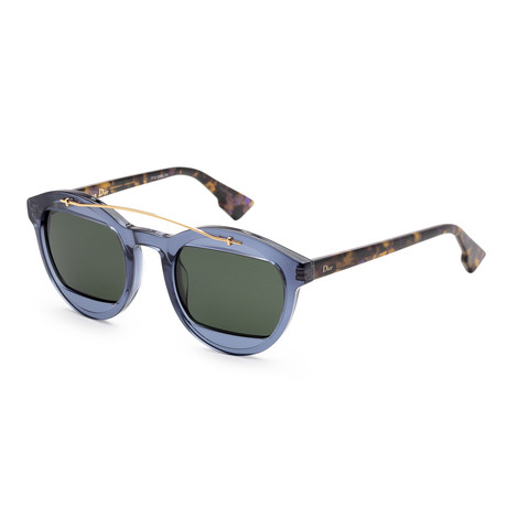Women's Mania Sunglasses // Transparent Blue + Havana
