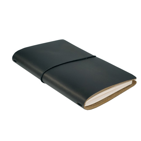Expedition Leather Notebook (Dark Brown)