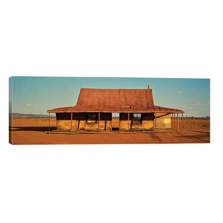 "Abandoned house on desert, Silverston, New South Wales, Australia // Panoramic Images (60""W x 20""H x 0.75""D)"