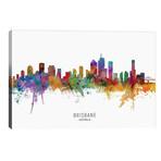 "Brisbane Australia Skyline // Michael Tompsett (40""W x 26""H x 1.5""D)"