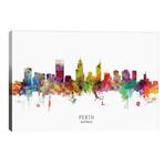"Perth Australia Skyline // Michael Tompsett (40""W x 26""H x 1.5""D)"