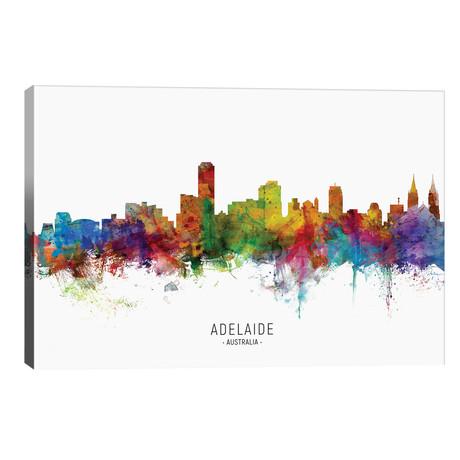 """Adelaide Australia Skyline // Michael Tompsett (40""""W x 26""""H x 1.5""""D)"""